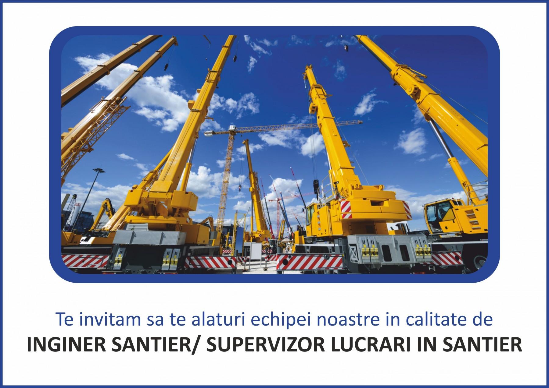 Inginer santier/ Supervizor lucrari in santier