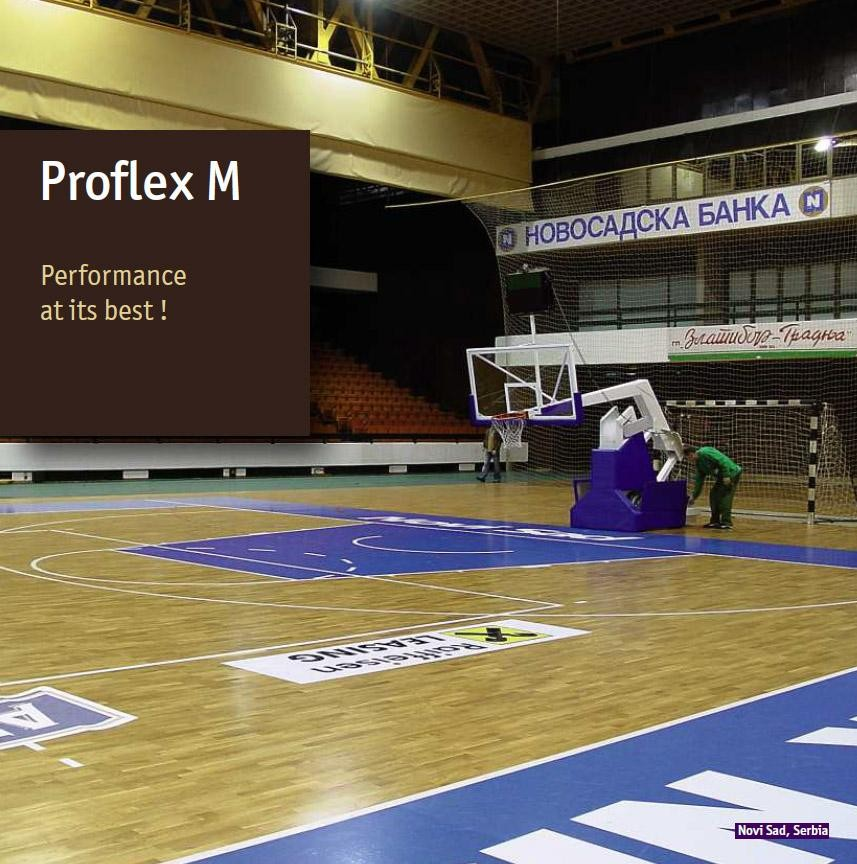 Parchet stratificat Proflex M pt baschet si sali de sport