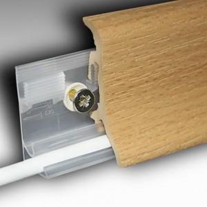 Plinta PVC spumos embosata PP60