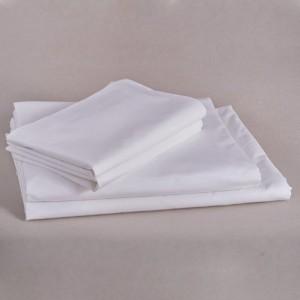 Lenjerie de pat percale alb 2 Persoane